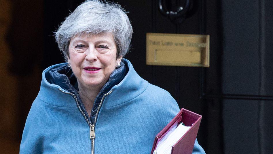 Macht Druck, hat es eilig: Großbritanniens Premierministerin Theresa May