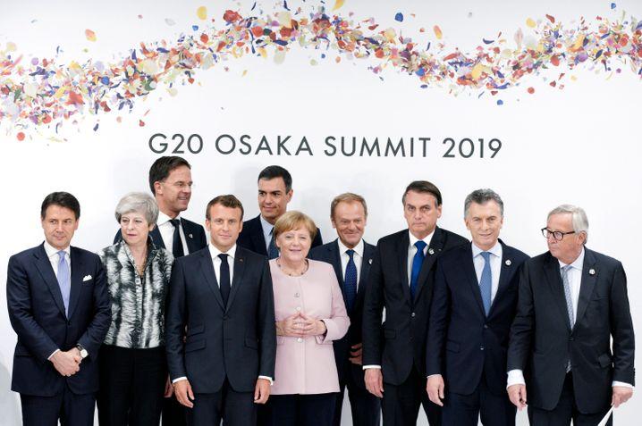 Regierungschefs von EU- und Mercosul-Staaten auf dem G20-Gipfel im Juni