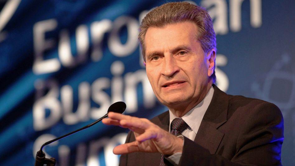 """EU-Kommissar Günther Oettinger: Entschädigungsfonds wirkt """"wie eine Droge"""""""
