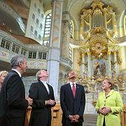 """""""Wonderful"""": Obama in der Dresdner Frauenkirche"""