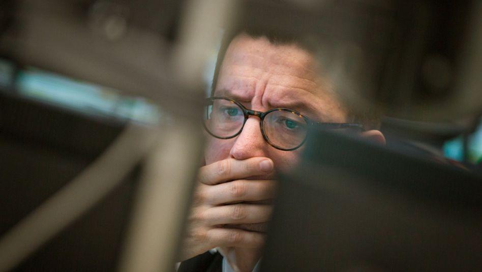 Die Angst ist zurück: Händler an der Frankfurter Börse
