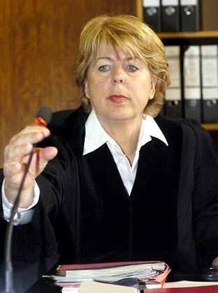 Ihre Autorität ist gefragt: Brigitte Koppenhöfer, Vorsitzende Richterin