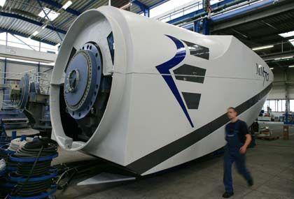 Suzlon-Manager wird Chef: Windradgondel von Repower