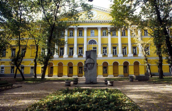 Gebäude in der Prechistenka Straße in Moskau