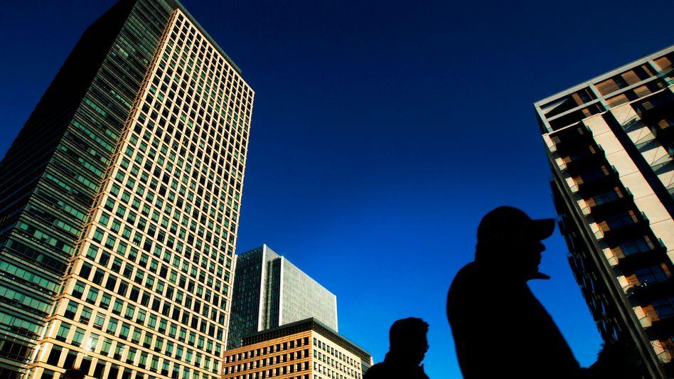 Finanzdistrikt in London: Nervosität bei den Banken