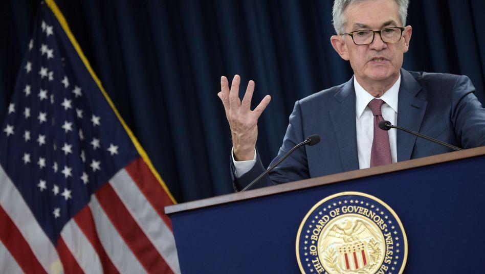 Fed-Präsident Jerome Powell lässt den Leitzins unverändert
