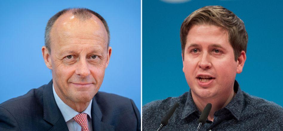 Friedrich Merz (links), Kevin Kühnert