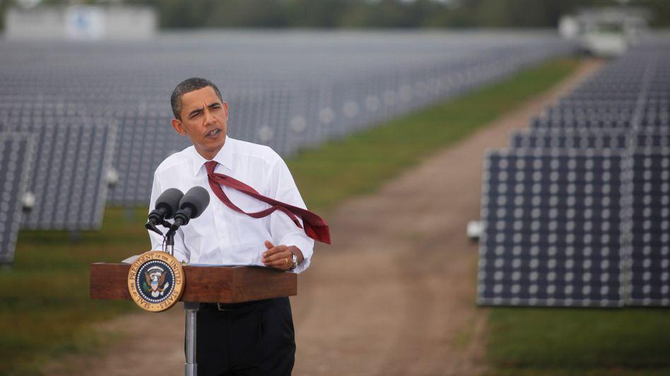 Macht deutschen Solarfirmen ein wenig Hoffnung: US-Präsident Obama kritisiert chinesische Solarfirmen und will die Klage deutscher Hersteller in den USA genau prüfen lassen