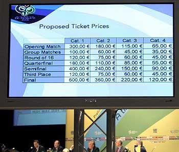 Das Angebot ist kleiner als die Nachfrage: Die Preisliste der begehrten Eintrittskarten