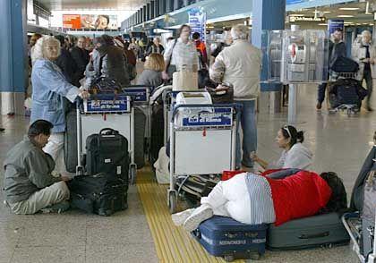 In den vergangenen Wochen ein gewohntes Bild: Streik bei Alitalia