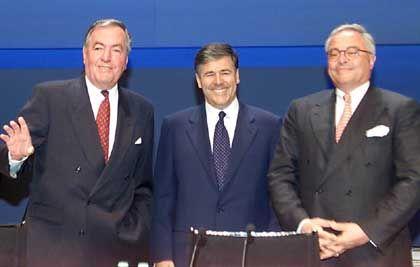 Wahlverwandschaften: Hilmar Kopper, Josef Ackermann, Rolf-E. Breuer (von links)