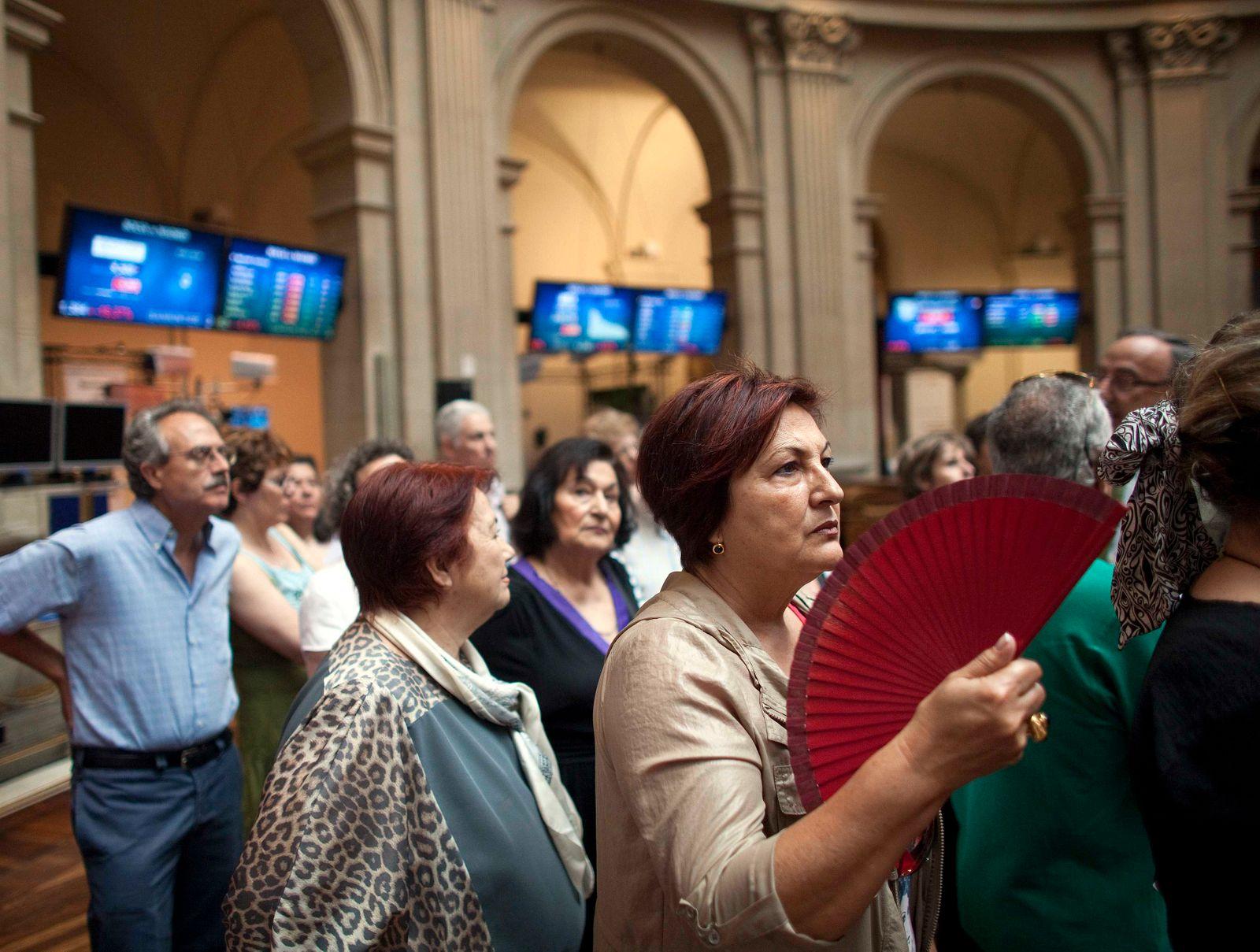 Börse / Madrid / Spanien / Anleger