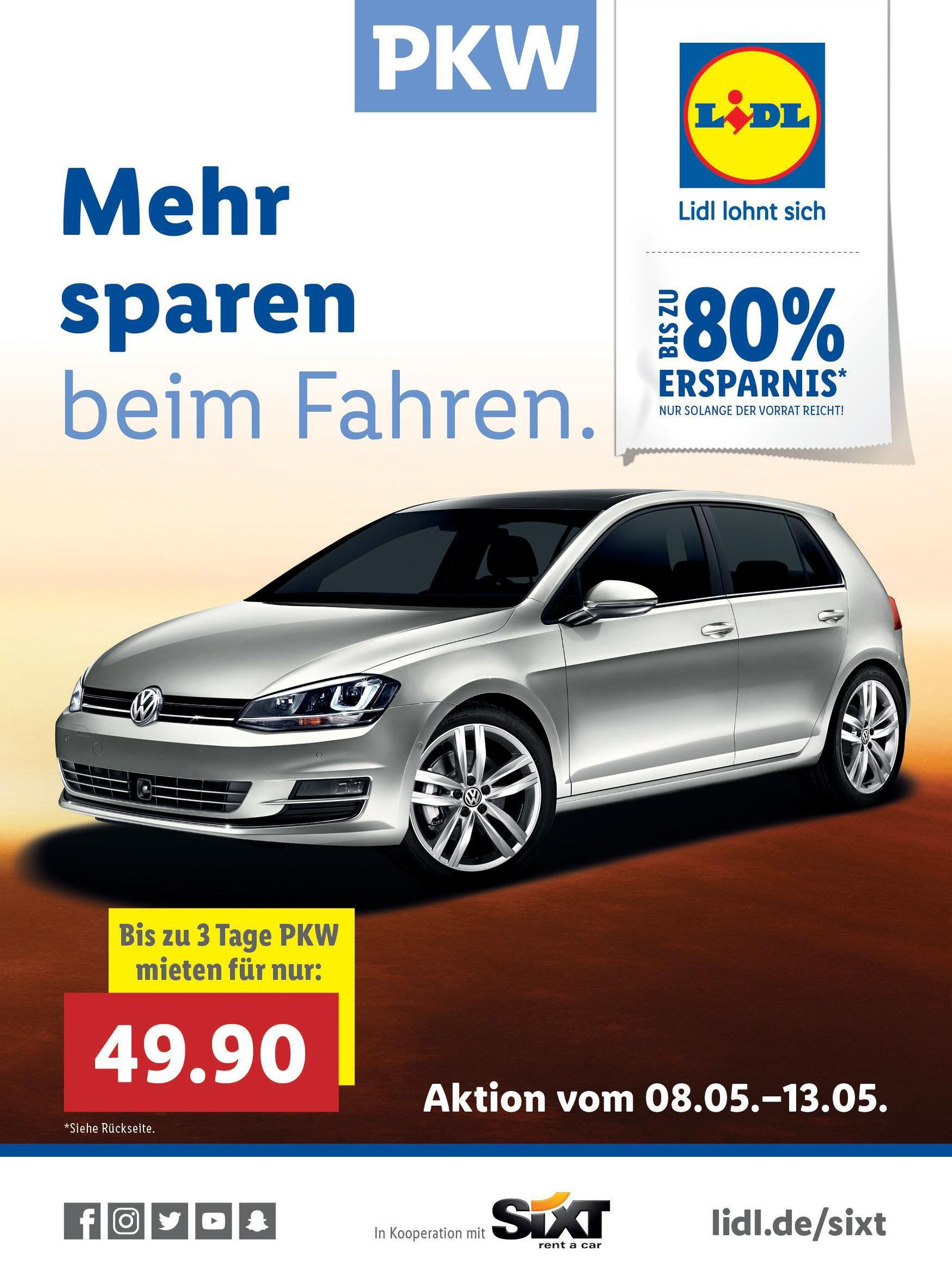 Anzeige Lidl / Sixt
