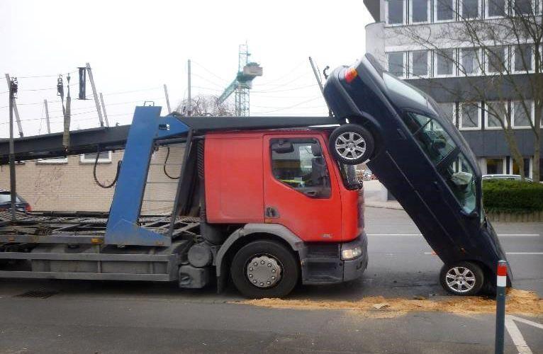 Kurioser Unfall in Bonn