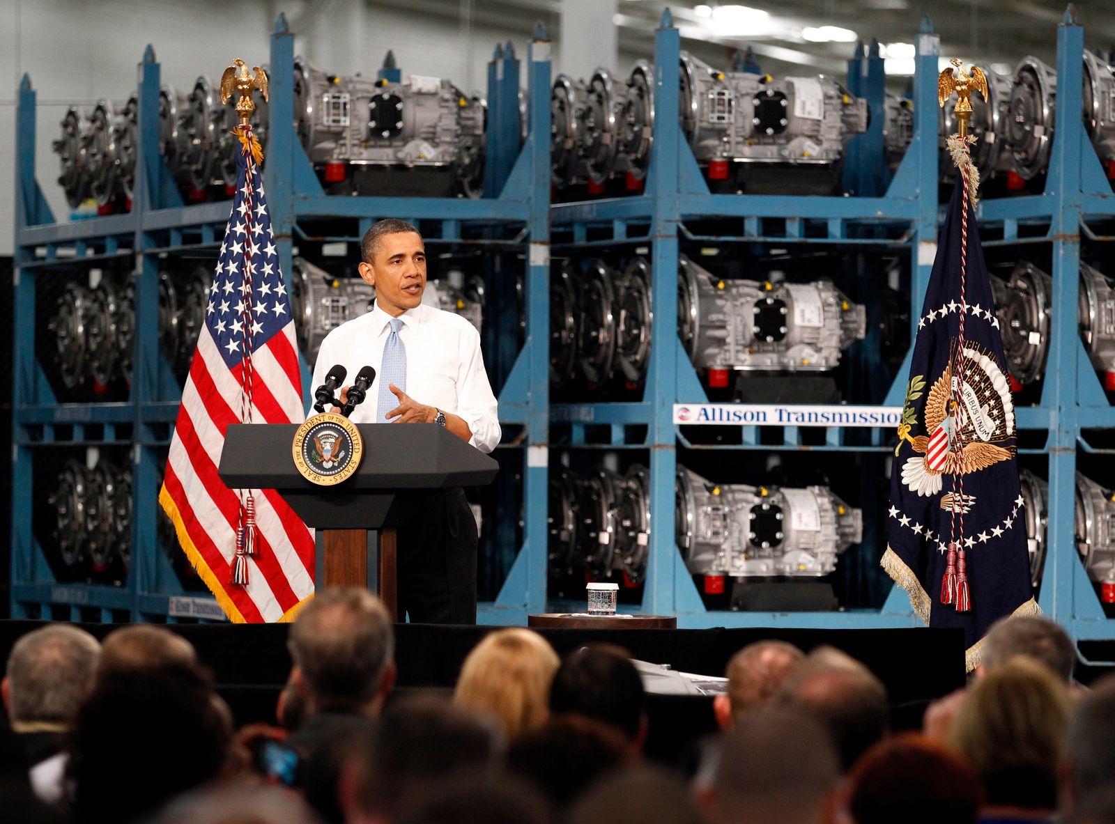 Barack Obama bei Allison Transmissions / Fabrik-Visite / Indianapolis