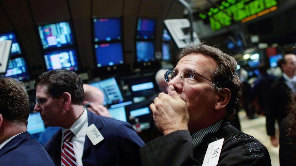 Rauf, runter, rauf: Die Kurse fahren Achterbahn - auch an der Wall Street