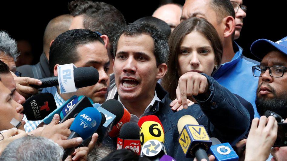 Oppositionsführer und Provokateur: Juan Guaidó hat sich selbst zum Übergangspräsidenten Venezuelas ernannt.