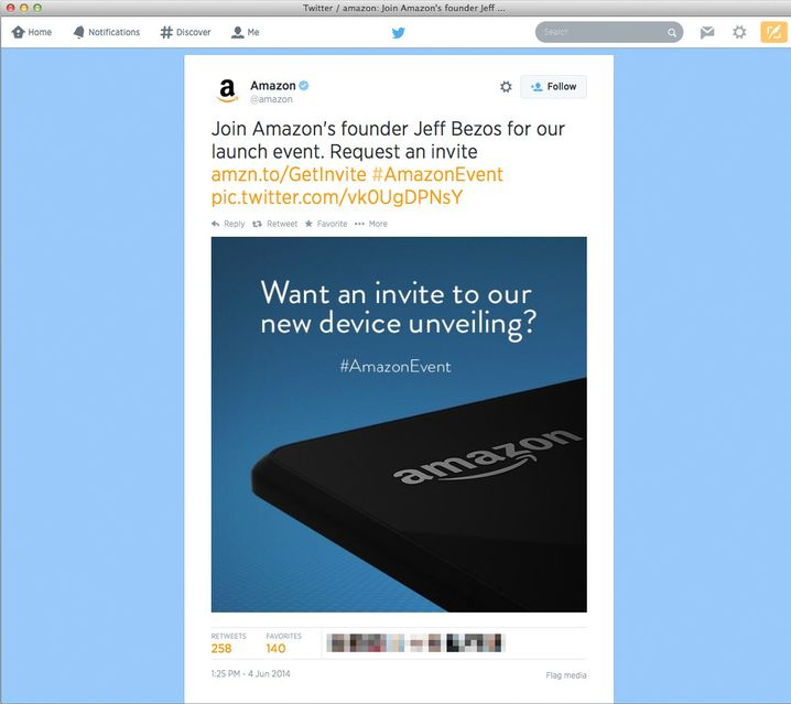 Geheimnisvolle Einladung: Am Mittwoch will Amazon sein neues Smartphone vorstellen