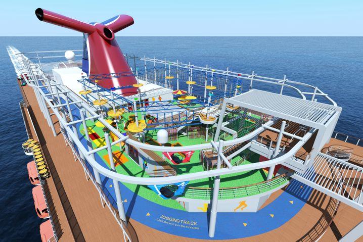 """Ein breites Freizeitangebot steht Passagieren auf der """"Carnival Vista"""" zur Verfügung."""