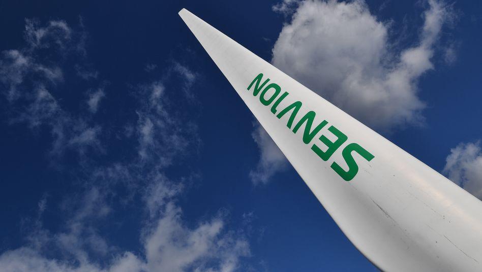 Flügel eines Senvion-Windrades: Die Zukunft des Anlagenherstellers ist ungewiss.