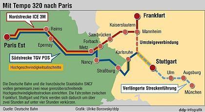 Fahrplanwechsel: Ab 10. Juni bedienen die Bahn und die SNCF die neue Strecke