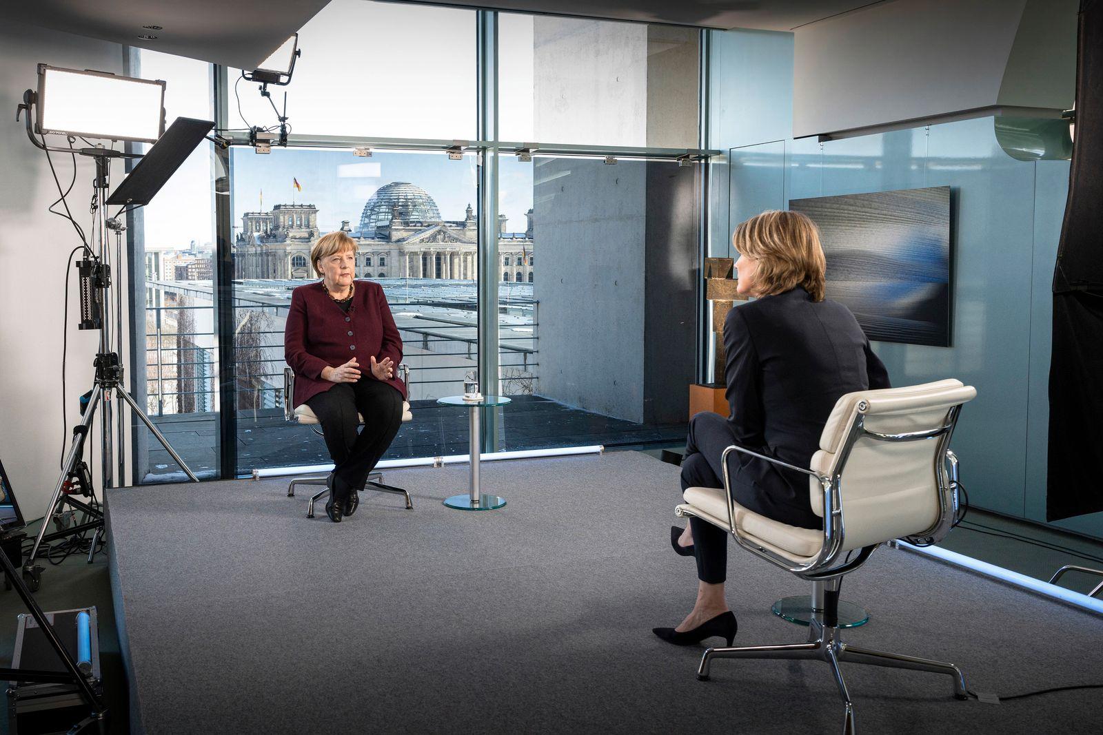 ZDF-Interview mit Bundeskanzlerin Merkel