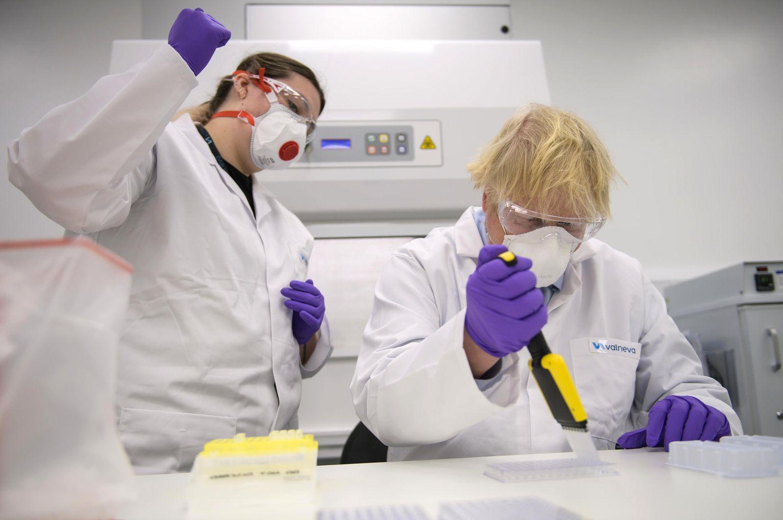 Coronavirus - Johnson besichtigt Biotech-Unternehmen