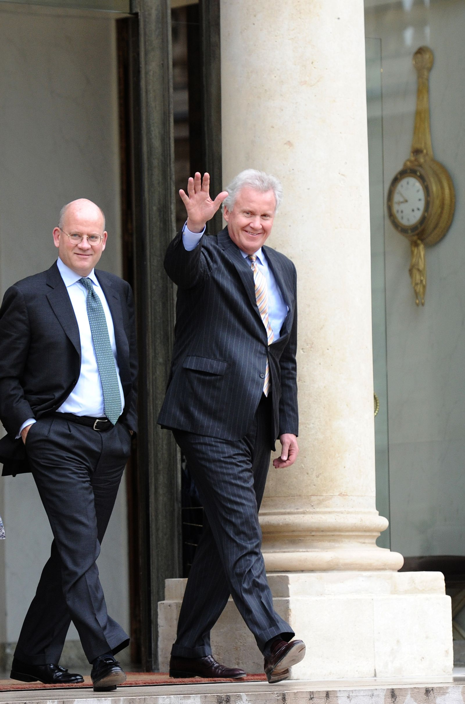 John Flannery (li) / Jeffrey Immelt (re)