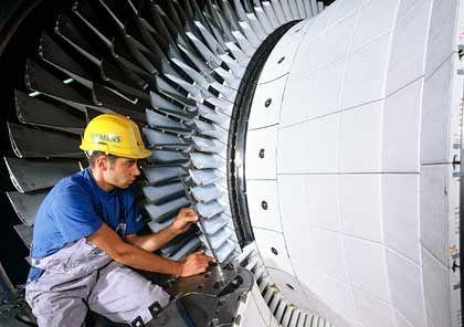 Hightech aus Deutschland: Turbine zur Stromerzeugung von Siemens