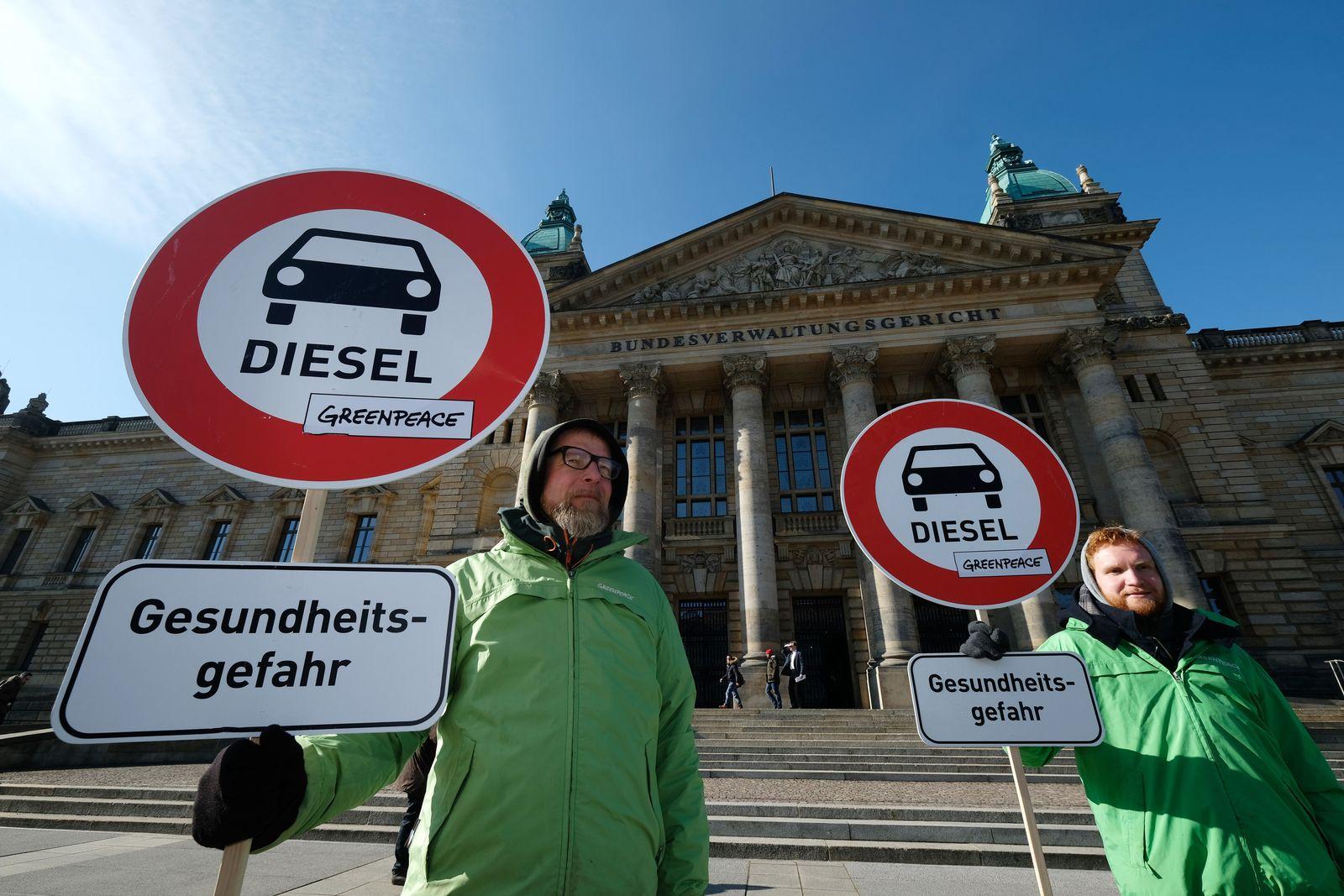 Bundesverwaltungsgericht urteilt über Diesel-Fahrverbote
