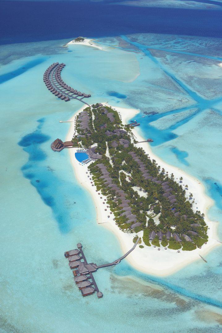 Einmal um die ganze Insel: Der Spaziergnag um das Resort «Anantara Dighu» dauert keine halbe Stunde.