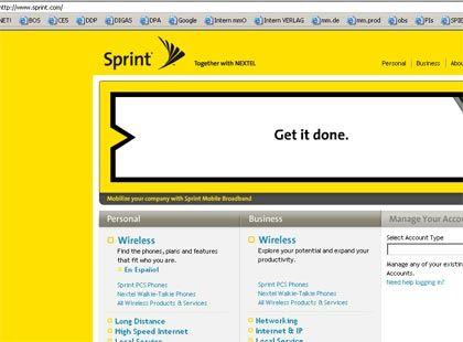 Auf Expansionskurs: Webseite von Sprint Nextel