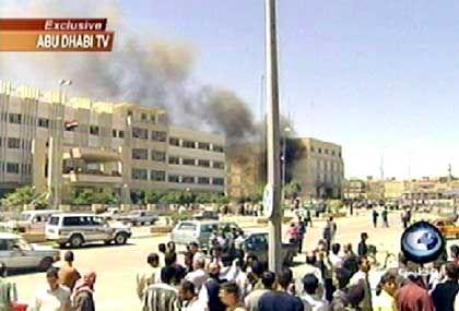 Einmarsch in Mossul (Fernsehbild von Abu Dhabi TV)