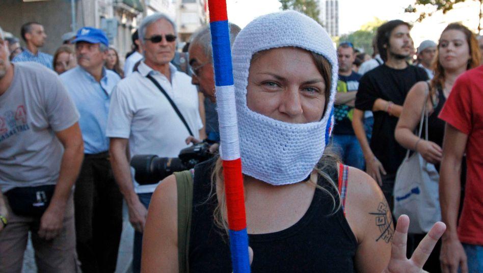 Demonstration in Lissabon: Anleger fürchten ein Wiederaufflammen der Schuldenkrise