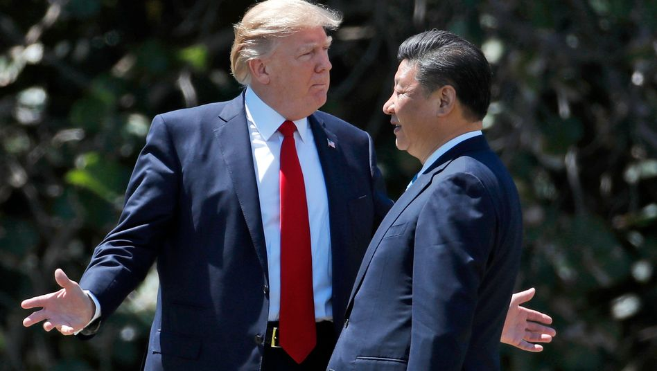 Verschiedene Blickrichtungen: US-Präsident Trump und Chinas Präsident Xi sind in der Handelspolitik uneins.