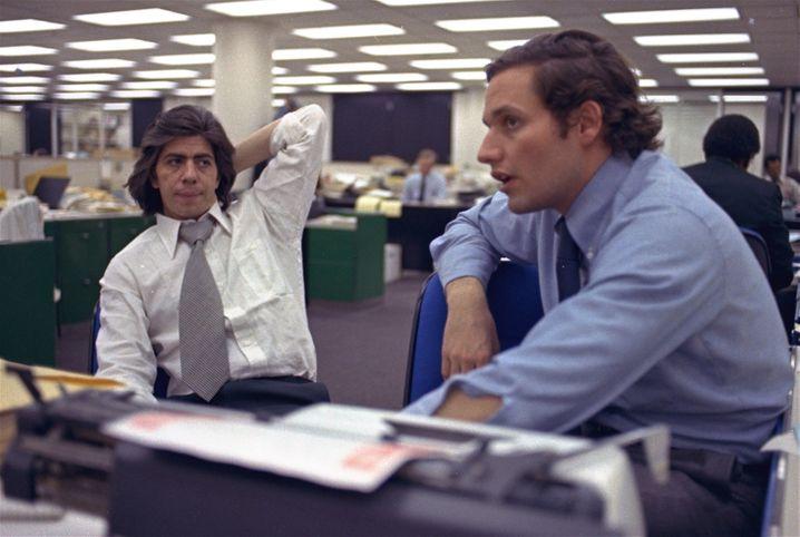 """Legendäre """"Post""""-Reporter Woodward (rechts) und Bernstein"""