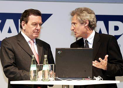 Chefs unter sich: Gerhard Schröder und SAP-Lenker Henning Kagermann