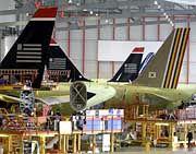 Endmontage: Produktion von EADS-Airbus in Hamburg-Finkenwerder