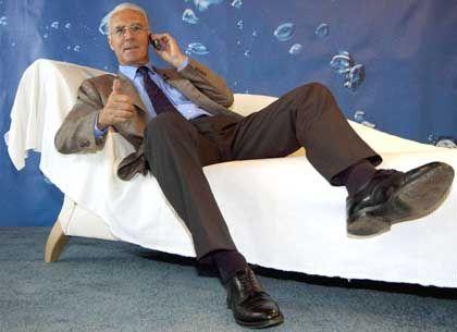 Lümmeln für O2: Franz Beckenbauer, Werbefigur der Münchener