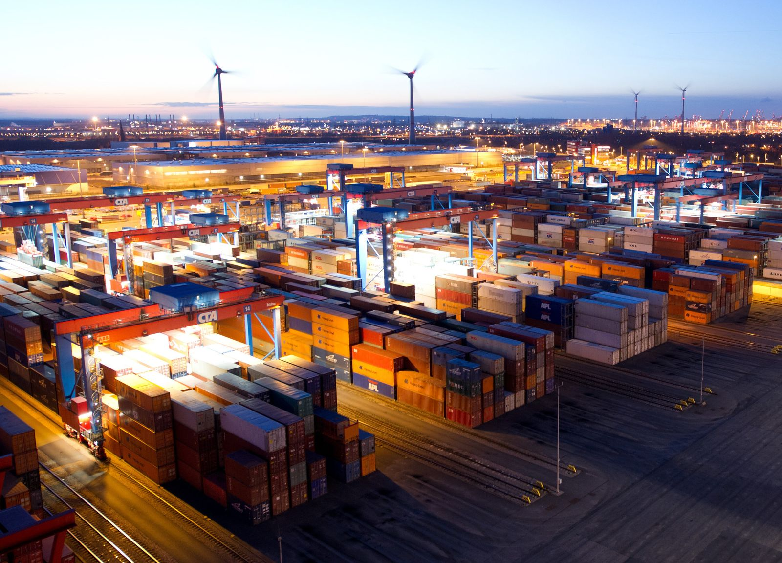 Deutschland / Export / Container/ Hamburger Hafen / Konjunktur
