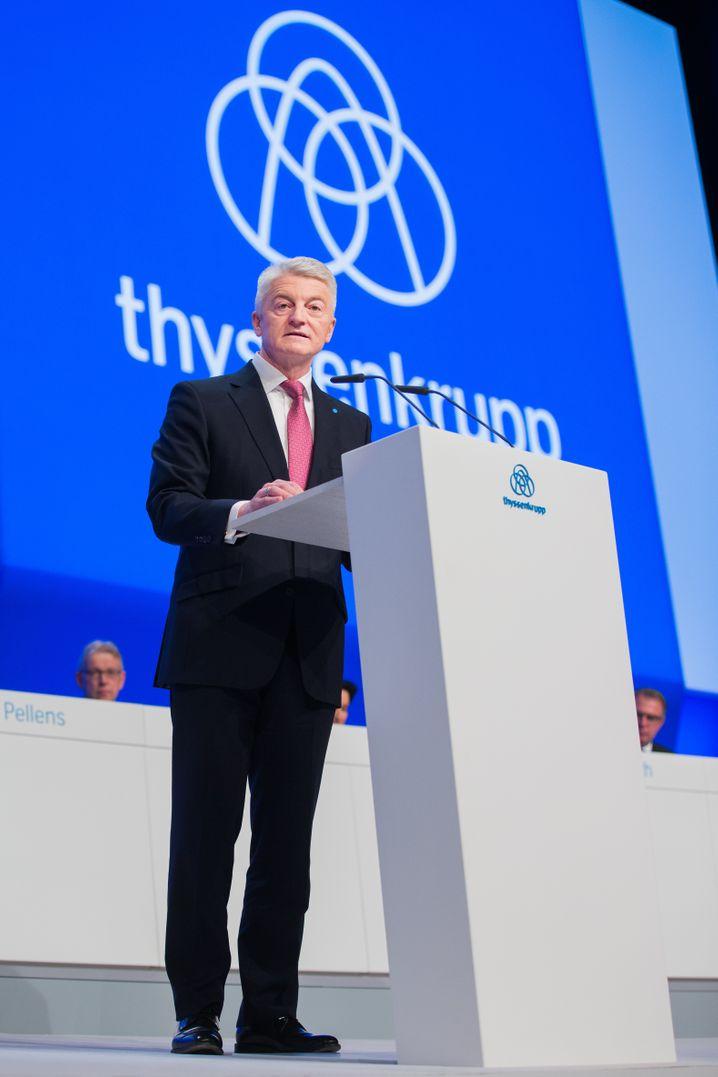 Hat eine harte Auseinandersetzung mit Betriebsräten und womöglich noch so manchem Investor vor sich: Thyssenkrupp-Chef Heinrich Hiesinger