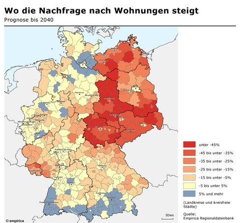 Prognose: Wo die Nachfrage nach Wohnungen steigt