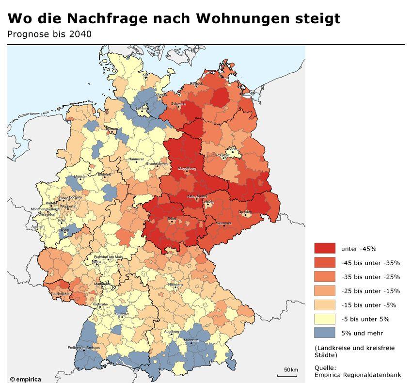 GRAFIK Empirica Regionaldatenbank / 2/ Wohungen