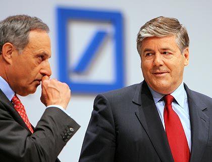 Eskalation: Börsig (links) und Ackermann
