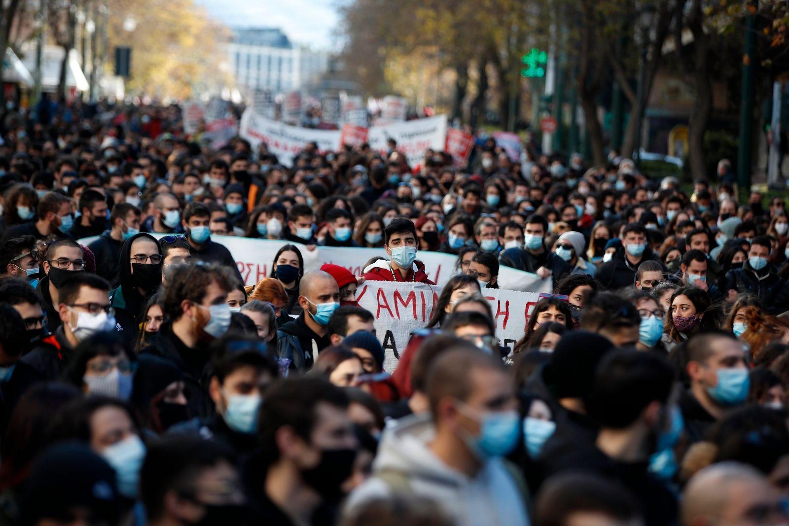 Coronavirus - Studentenproteste in Griechenland