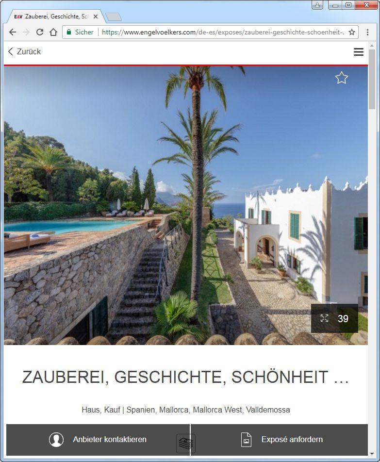 Bohlen villa mallorca dieter Riesenbett, Luxusküche,