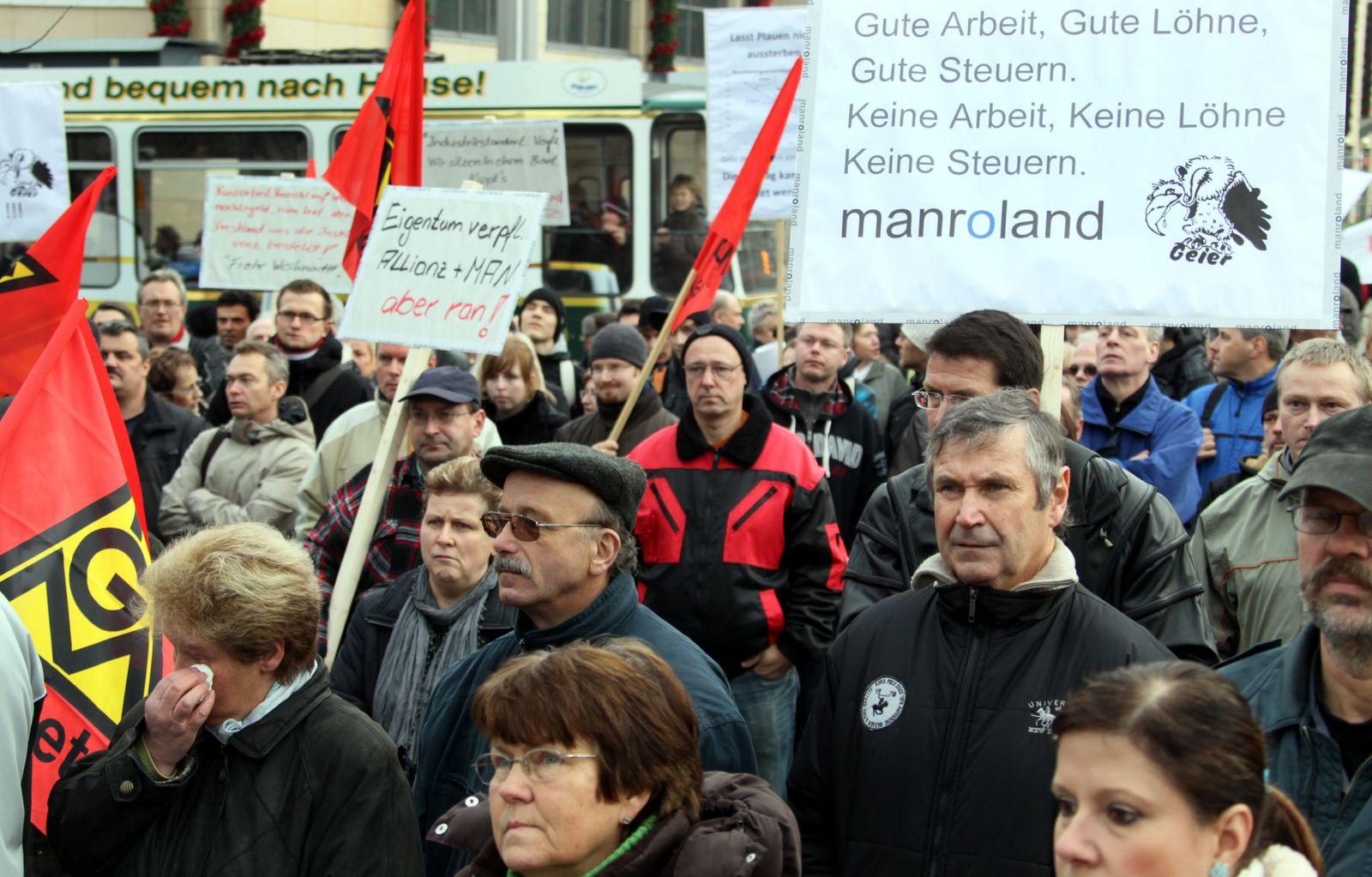 NICHT VERWENDEN Unternehmen / Aktionen / Manroland / Demonstration IGM