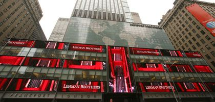 Viel rot: Die Lehman-Zentrale am New Yorker Times Square