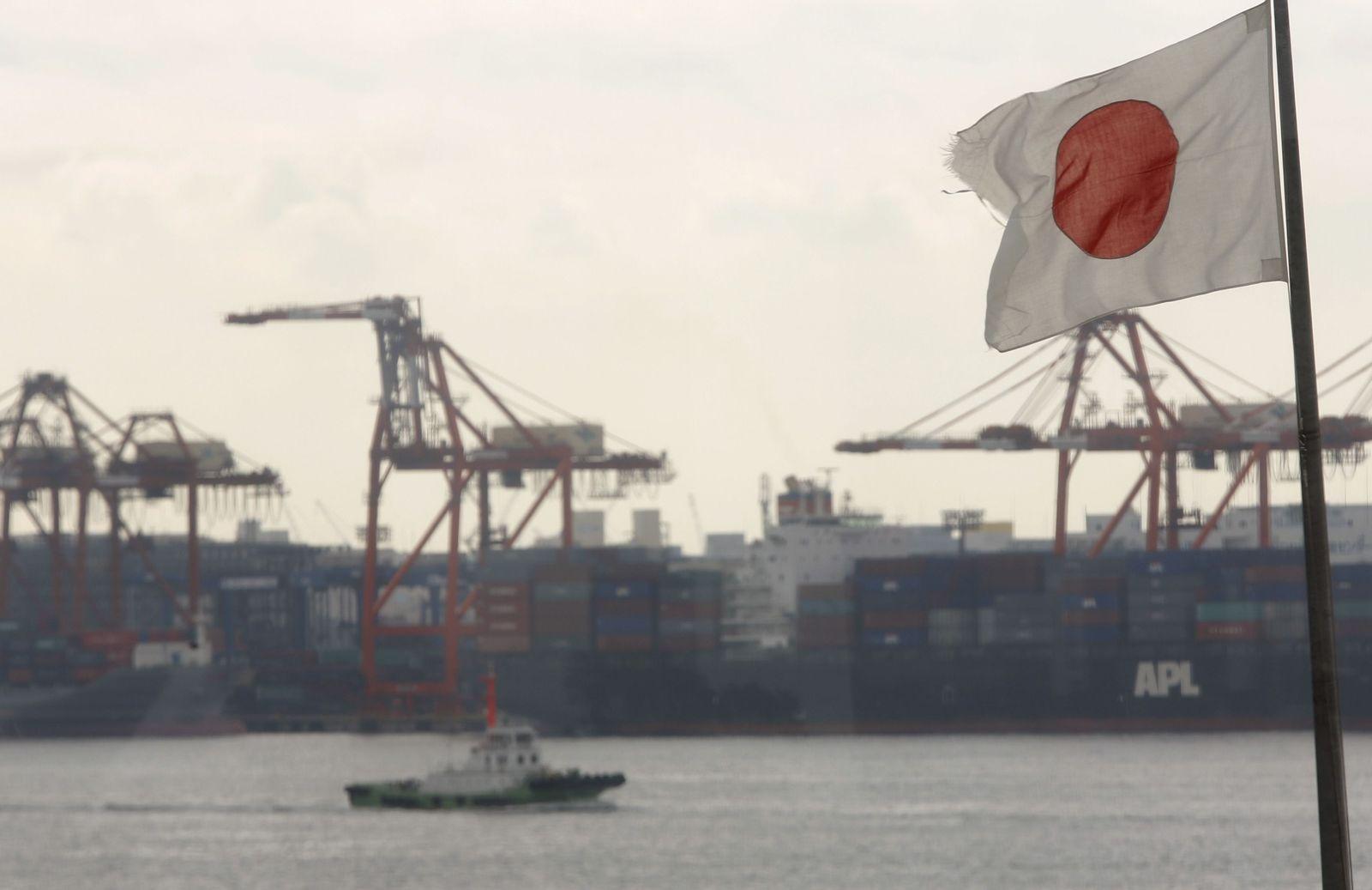 Japan Hafen Tokio Flagge