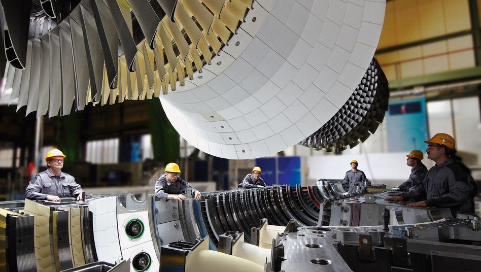 Produktion von Gasturbinen: Die Flaute im Kerngeschäft belastet den Siemens-Konzern